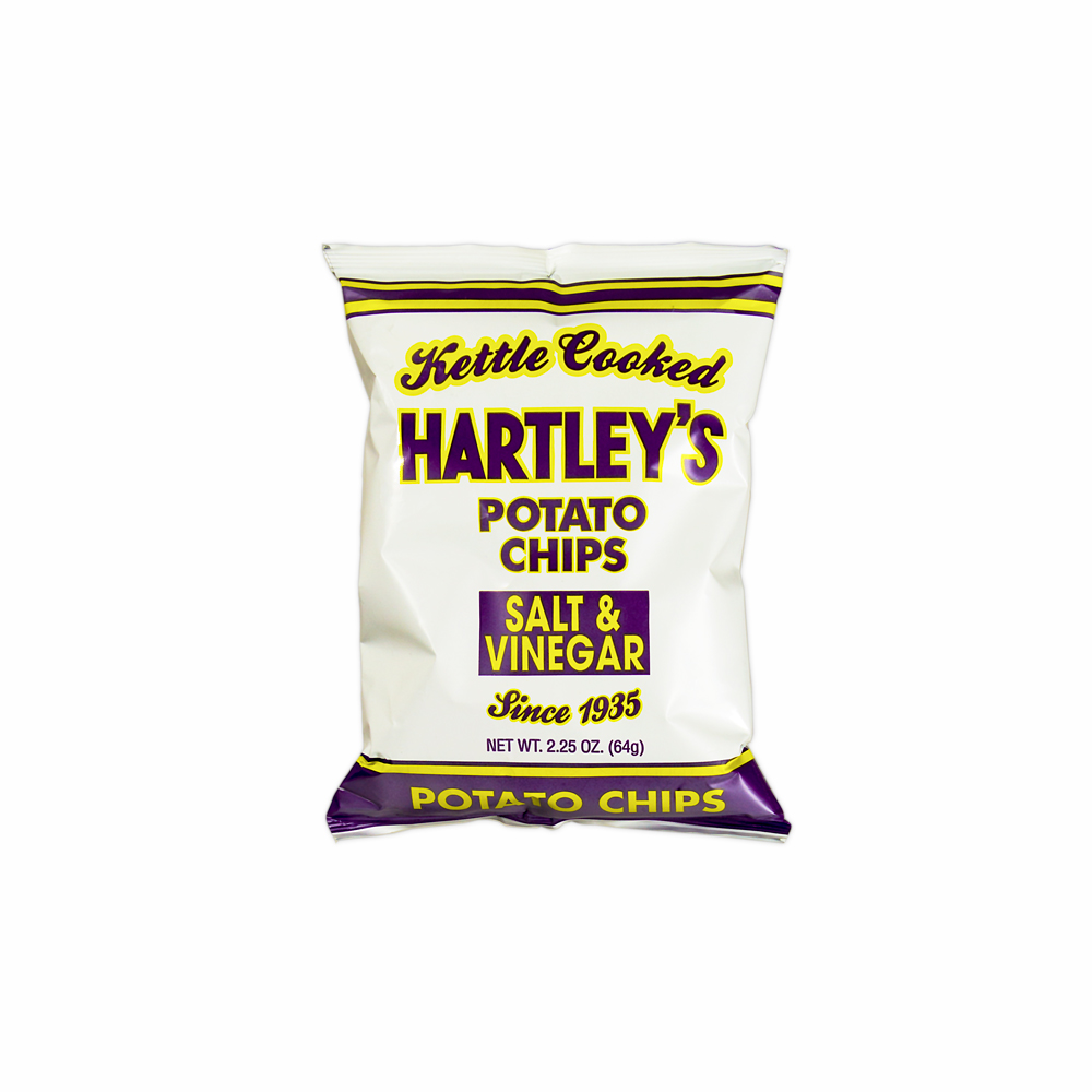 box of sixteen 16 2oz chip bags hartleys potato chips. Black Bedroom Furniture Sets. Home Design Ideas
